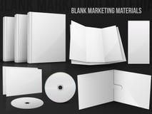 Marknadsföra material för tomt kontor Royaltyfria Foton