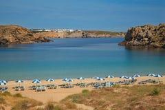 tomt menorcan för strand Arkivfoto