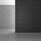 Tomt modernt badrum med gråa tegelplattor Arkivfoto
