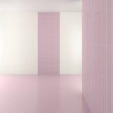 Tomt modernt badrum med purpurfärgade tegelplattor Royaltyfri Bild