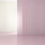 Tomt modernt badrum med purpurfärgade tegelplattor Royaltyfria Foton
