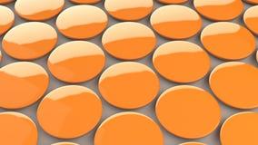 Tomt orange emblem på vit bakgrund Arkivfoton