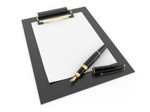 tomt paper pennark för clipboard Arkivfoto