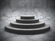 Tomt podium för betongrundasockel stock illustrationer