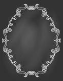 Dekorativt inrama på den svart tavlan royaltyfri illustrationer