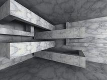 Tomt rum för mörkerabstrakt begreppbetong Geometrisk backgr för arkitektur Royaltyfri Bild