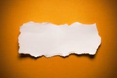 Tomt sönderrivet papper Fotografering för Bildbyråer