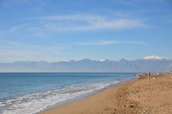 tomt sandigt för strand Fotografering för Bildbyråer