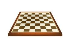 Tomt schackbräde i brun design Arkivfoto