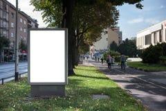 Tomt stadsljusställe för din annons Royaltyfri Foto