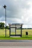tomt stopp för buss Royaltyfria Foton