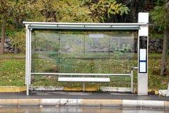 tomt stopp för buss Arkivfoton
