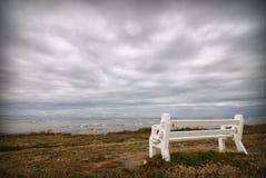 tomt stormigt väder för bänk Fotografering för Bildbyråer