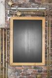 Tomt svart bräde för brädekafémeny Royaltyfri Fotografi