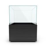 Tomt svart exponeringsglas ställer ut för utställning Arkivfoton