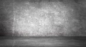 Tomt svart studiorum Stranda av hår vänder mot in Abstrakt mörk tom studiorumtextur arkivfoton