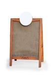 Tomt tecken för menybrädeställning Arkivbild