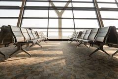 tomt terminal vänta för flygplatsområde Arkivbilder