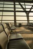 tomt terminal vänta för flygplatsområde Royaltyfri Bild