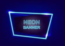 Tomt textbaner för neon Royaltyfri Foto