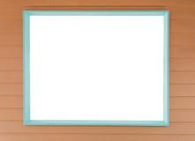 Tomt träfönster för vit Royaltyfria Bilder