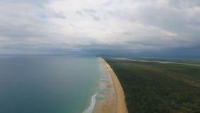 Tomt tropiskt strandlandskap i Phuket lager videofilmer