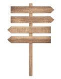 Tomt vägmärke som visar riktningen av rörelse Royaltyfri Fotografi