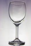 Tomt vinexponeringsglas Royaltyfri Fotografi
