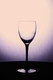 Tomt vinexponeringsglas på en svart ställning Royaltyfri Bild