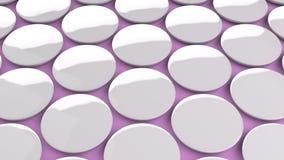 Tomt vitt emblem på purpurfärgad bakgrund Royaltyfri Foto