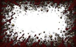 Tomt vitt område som inramas av smuts, vaggar, och blod - illustrationen 3D vektor illustrationer