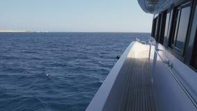 Tomt yachtdäck stock video