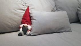 Tomte obsiadanie na kanapie fotografia stock