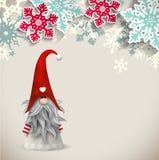 Tomte, scandinavian traditional christmas dwarf, illustration vector illustration