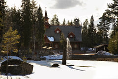 Tomteland – house of Santa Claus. Sweden Royalty Free Stock Images