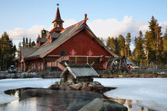 Tomteland – house of Santa Claus. Sweden Royalty Free Stock Photos