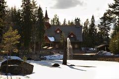 Tomteland —hus av Santa Claus sweden Royaltyfria Bilder