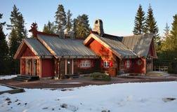 Tomteland —hus av Santa Claus sweden Arkivfoton