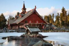 Tomteland —hus av Santa Claus sweden Royaltyfria Foton
