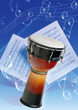 Tomtom. Picture of an instruments and music note Royalty Free Stock Image