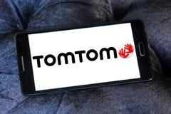 TomTomföretagslogo royaltyfri bild