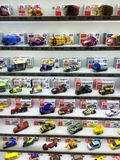 Tomy Toy Cars Display Fotografia de Stock Royalty Free