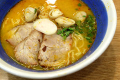 Tomyam Ramen - Japanese food in Thai style Stock Photos