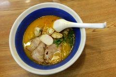 Tomyam Ramen - Japanese food in Thai style Stock Image