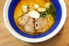 Tomyam Ramen - Japanese food in Thai style Royalty Free Stock Image