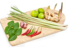 Tomyum ingredients Royalty Free Stock Image