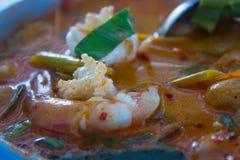 Tomyum kung, het voedsel van beroemde Thai Royalty-vrije Stock Afbeeldingen