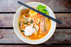 Tomyum noodle Stock Images