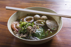 Tomyum noodle soup Royalty Free Stock Image