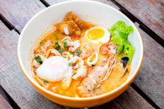 Tomyum seafood noodle Royalty Free Stock Image